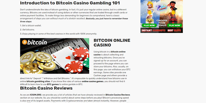 GAMING AT ONLINE BEST BITCOIN CASINOS
